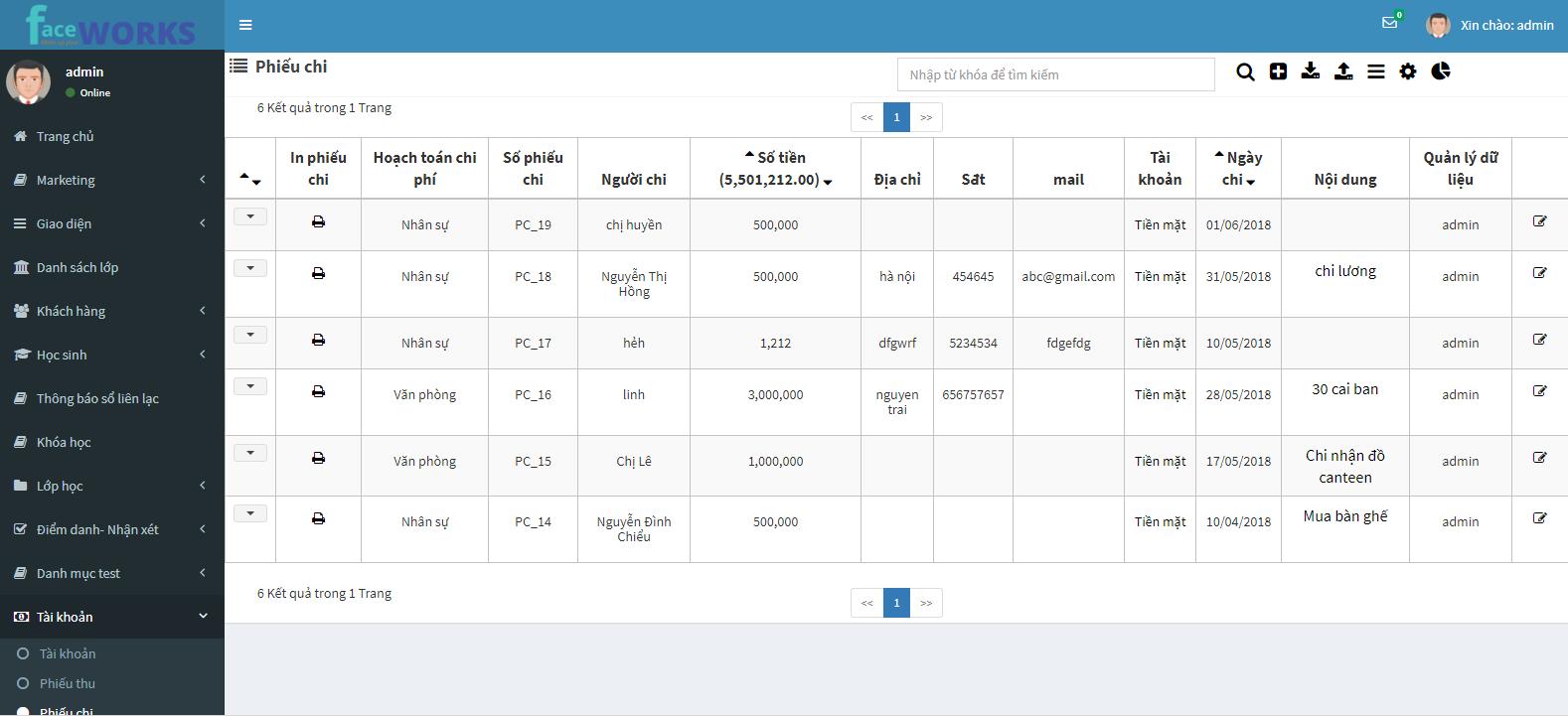 Quản lý thu chi hiệu quả trung tâm đào tạo thời đại công nghệ 4.0 4